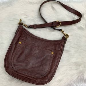 Frye Campus Rivet Leather Crossbody Black Cherry